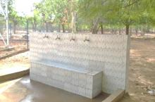 Handwashing station in Niger