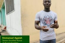 Emmanual Appiah, senior nurse in Wassa East district, Ghana