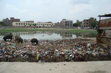 Open defecation close to a school