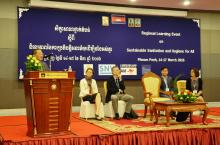 Official opening of the learning event by the Secretary of State of the Ministry of Rural Development in Cambodia