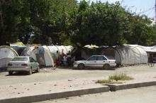 IDP squatting in streets of Dili, Timor Leste