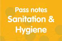 Pass notes sanitation and hygiene