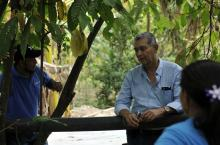 Pedro Ortiz,  co-ordinator of the executive secretary CONASA, visiting a rural dispersed community
