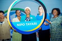 Tanzanian Minister of Health publicly commits to the Nipo Tayari campaign