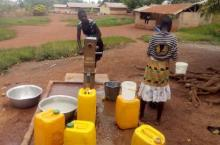 Fetching water in Ghana