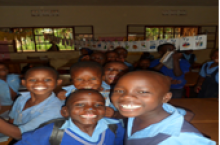 Primary girls at an Ugandan school
