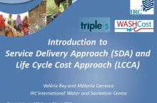 PowerPoint slide introducing the service delivery approach and LCCA approach