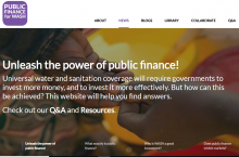 Public Finance for WASH home page