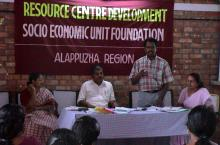 Workshop on resource centre development by SEUF in India
