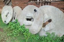 Circular concrete slabs made by the enterprises