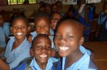 school children in Uganda