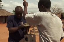 Making repairs in Ghana