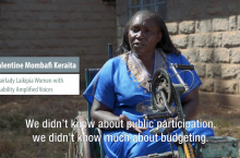 Women voices for water in Nanyuki, Kenya