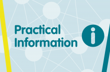 Symposium banner for practical information