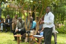 Martin Watsisi at Parish Dialogue, Buheesi Sub-county