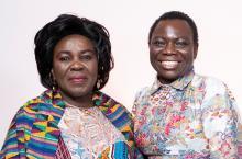 Hon. Cecilia Abena Dapaah, Ghana's Minister for Sanitation and Water Resources and Vida Duti, IRC Ghana Country Director