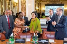 Vida Duti, Country Director of IRC Ghana wins the 2019 OFID Annual Award for Development, Photo: OFID Multimedia
