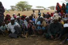 Village meeting in Erasaboru Ewaso Nyiro Basin, wetlands