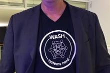 WASH systems nerd t-shirt