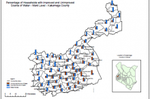 WASH equity map Kakamega County