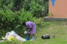 Waste disposal at healthcare facility in Kabarole, Uganda