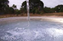 Water flowing. Still from the WASHCost film