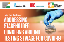 Webinar invitation Stakeholder Concerns Testing Sewage for COVID-19
