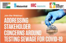 Webinar invitation Stakeholder Concerns Testing Sewage for COVID-19