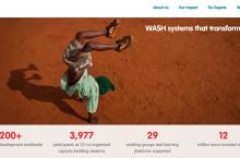 Screenshot of the homepage of IRC`s new website