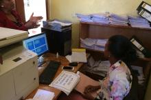 Water office in Wukro, Ethiopia