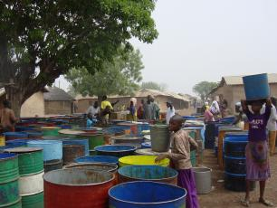 Operating water point in Tamale, Ghana