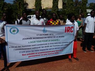 International Day for the Eradication of Poverty banner