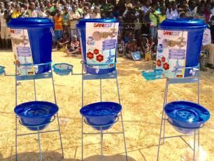 Handwashing stands