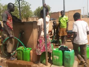 Water point in Komsilga, Burkina Faso