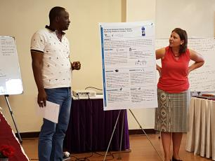 Aboubacar and Fanny during a workshop in Nepal