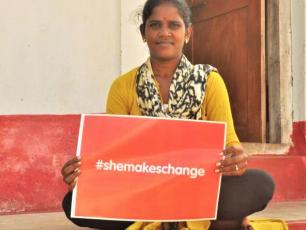 She makes change