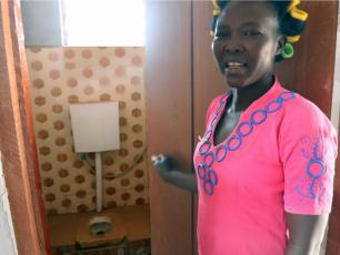 Cynthia Azure will look after the toilet in the market
