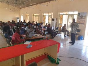 Participants at the review meeting in Banfora