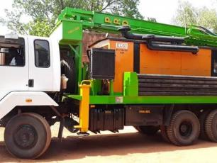Mobile drilling workshop in Banfora, Burkina Faso