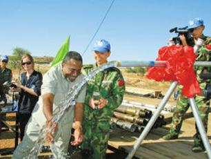 Chinese Water Supply Regiment in Darfur. Photo: PLA Daily.