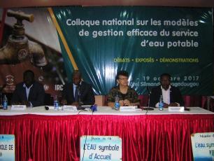 Colloque national sur les  modeles de gestion efficace du service d'eau potable