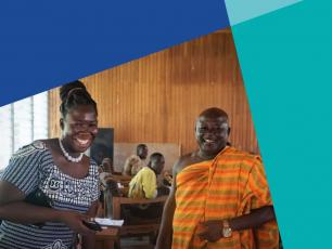 Helena Acquah, Head of the Physical Planning Department and Barima Dankwa Osiakwan, traditional council leader in Asutifi North