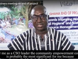 Martin Dery, chairman of CONIWAS in Ghana