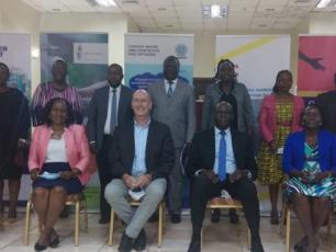 WASH sector stakeholders in a group photo after dialogue meeting on Tuesday [Image cc Watchdog news]