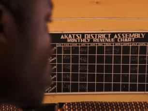 Akatsi District monthly revenue board