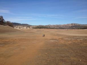 Folsom reservoir during a drought