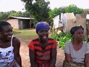 Women in community in Ghana
