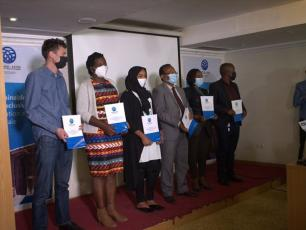 The implementation guideline launched during world toilet day celebration (photo by: Tsegaye Yeshiwas)