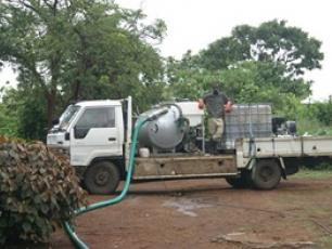 Lorry for faecal sludge removal