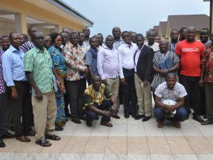 Group photo of participants in the Bologa region in Ghana